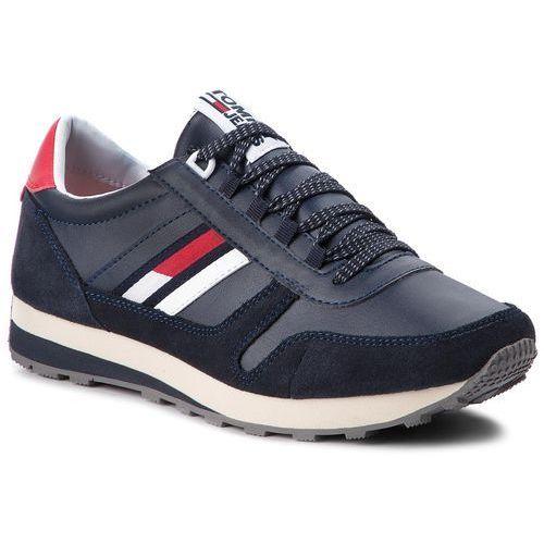 Sneakersy TOMMY JEANS - Retro Runner Sneaker EM0EM00165 Ink 006, w 7 rozmiarach