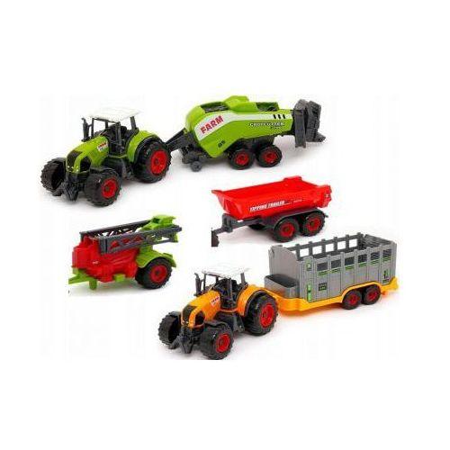 Zestaw farma: 2 traktory / ciągniki + 4 maszyny rolnicze. marki Sunq toys