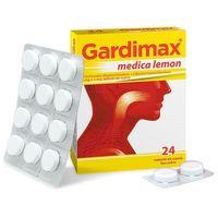 Tabletki Gardimax medica, lemon, 24 tabletki do ssania - Długi termin ważności! DARMOWA DOSTAWA od 39,99zł do 2kg!