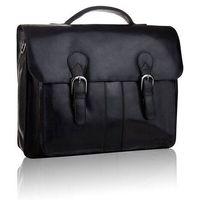 Czarna skórzana torba męska do pracy tbs-315 betlewski