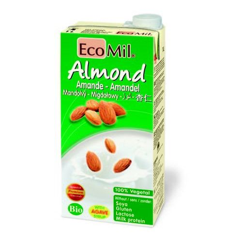 Ecomil Mleko migdałowe z wapniem słodzone agawą bio 1l - Ekstra upust