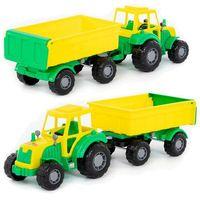 Pojazd majster traktor z przyczepą