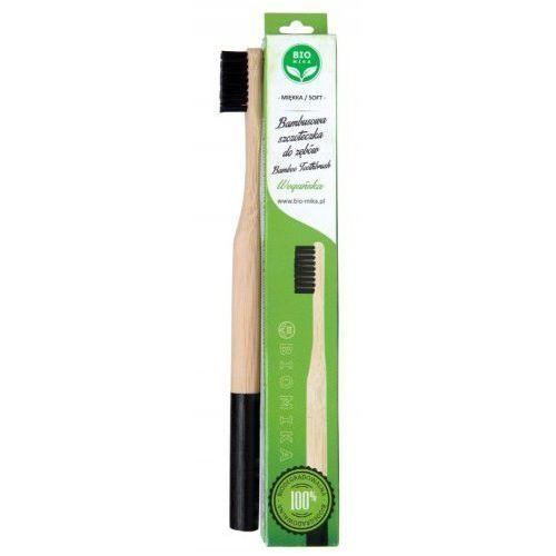 Bambusowa szczoteczka do zębów czarna marki Biomika