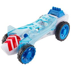 Hot wheels dpb72 power crank autonakręciaki biało-niebieski samochodzik 4+