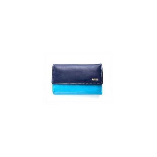 7834fca1f548f Niebieski damski portfel skórzany pl 454 n (PETERSON) - sklep ...
