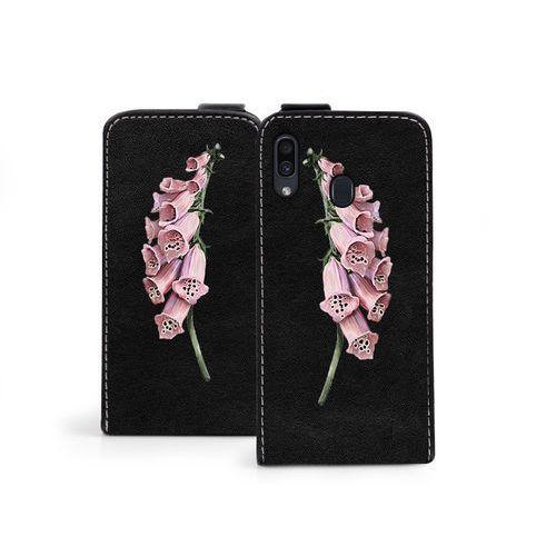 Samsung Galaxy A30 - etui na telefon Flip Fantastic - czerwone kwiaty, kolor czerwony