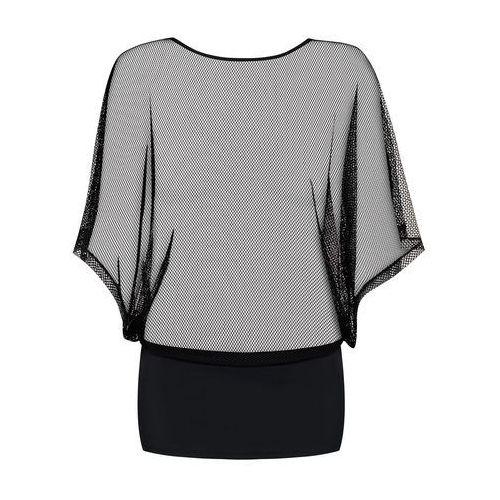 Obsessive Odważna koszulka sukienka - punker dress & thong black s/m