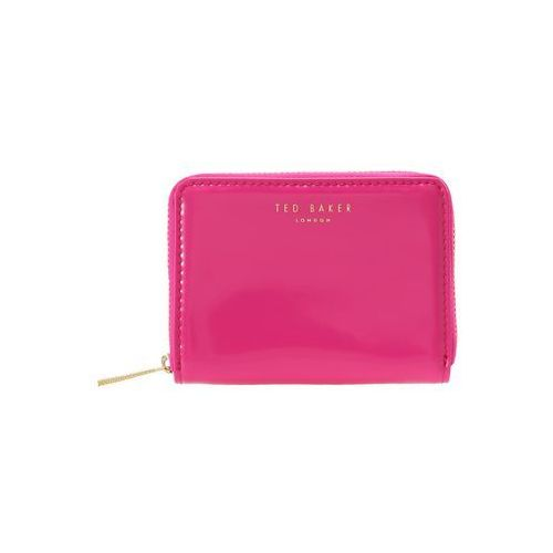 Ted Baker OMARION PATENT ZIP AROUND MINI PURSE Portfel bright pink