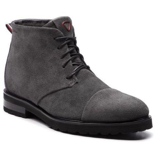2e7055f9c2f28 Strellson Trzewiki STRELLSON - New Brown79 Dark Grey 802, kolor szary
