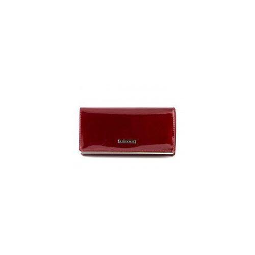 Czerwony lakierowany damski portfel skórzany Lorenti 64003 SH R, 64003 SH R