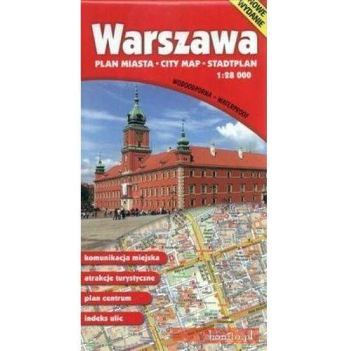 Warszawa Plan Miasta 1:28 000 Mapa Wodoodporna - Praca zbiorowa (2013)