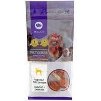 przysmak dla małego psa - kostki z kurczakiem - hantelki 60g marki Maced