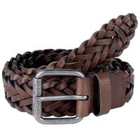 pasek BENCH - Plaited Leather Belt Dark Brown (BR052)