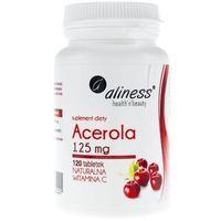 Acerola 125mg x 120 tab. Naturalna lewoskrętna witamina C (5902596935221)
