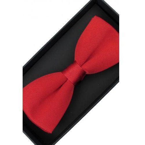 Elegancka mucha muszka męska gotowa gładka czerwona matowa tradycyjna m224 marki Laviino