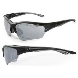 Okulary ACCENT Wind czarny-grafitowy / Kolor soczewek: nie dotyczy / Rodzaj szkieł: standardowe