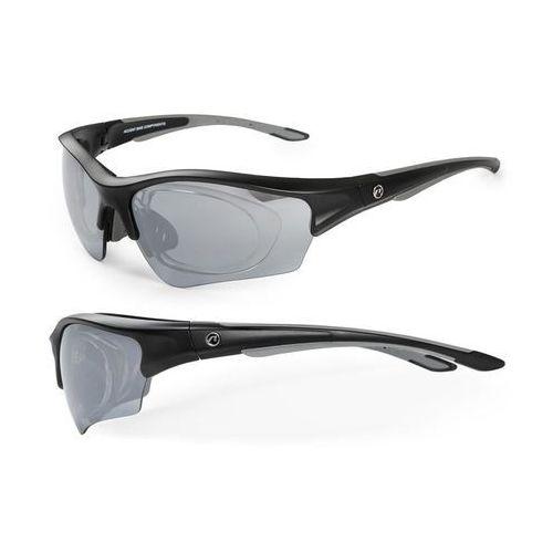 Accent 610-40-86_acc okulary wind czarno - grafitowe matowe z adapterem 2 pary soczewek (5902175604951)