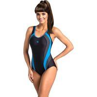 e93d28e24de1f5 Jednoczęściowy strój kąpielowy Kostium Jednoczęściowy Model Power III Black/Grafit/Blue  - GWINNER