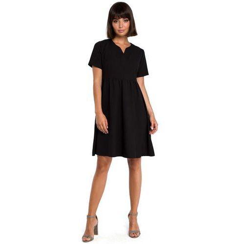 2e16b2ca222d9a Czarna rozkloszowana sukienka mini odcinana pod biustem, , 36-44 ...