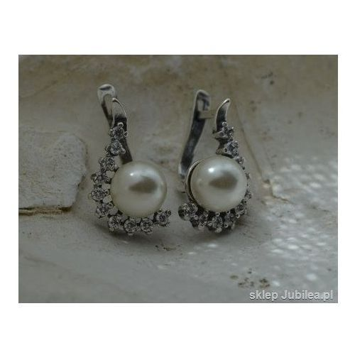 SENTOSA - srebrne kolczyki z perłą i cyrkoniami