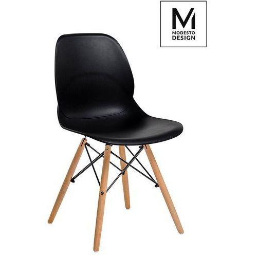 Krzesło LEAF WOOD PW061.BLACK - King Home - Sprawdź kupon rabatowy w koszyku, kolor czarny