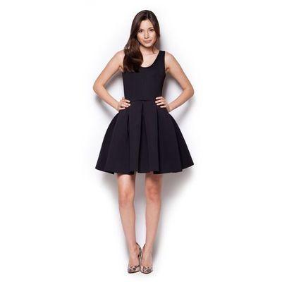 b5465078f6 Czarna rozkloszowana sukienka mini z dekoltem v na plecach marki Figl MOLLY