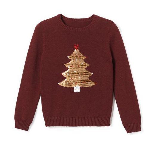 Sweter z choinką z cekinami 3-12 lat La redoute collections