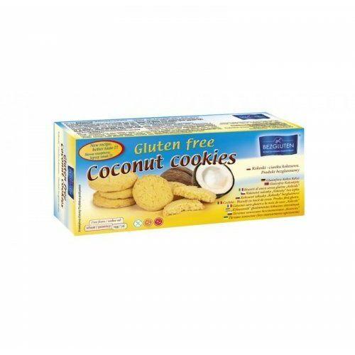 """Ciastka kokosowe """"kokoski"""" owe 130g marki Bezgluten"""