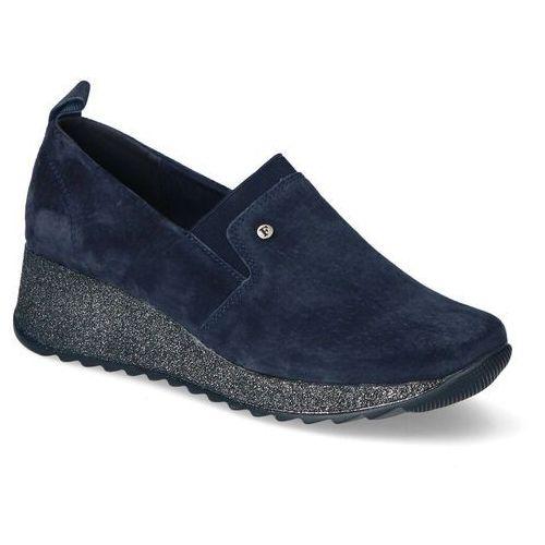 Sneakersy Filippo DP1500/20NV Granatowe zamsz, sneakersy