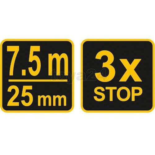 Vorel Miara zwijana żółto-czarna 7,5 m x 25 mm 10128 - zyskaj rabat 30 zł