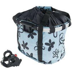 Koszyk na kierownicę z materiału HB-142 /KLIP/ 36x26x22 błękitna w kwiatki, K1116