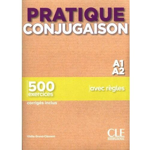 Pratique conjugaison a1/a2 podręcznik + klucz - odile grand-clement (184 str.)