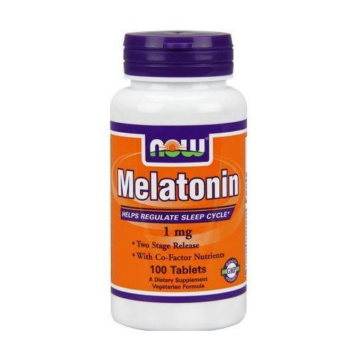Tabletki Now Foods Melatonina 1mg + Niacyna 100mg 100 tabl