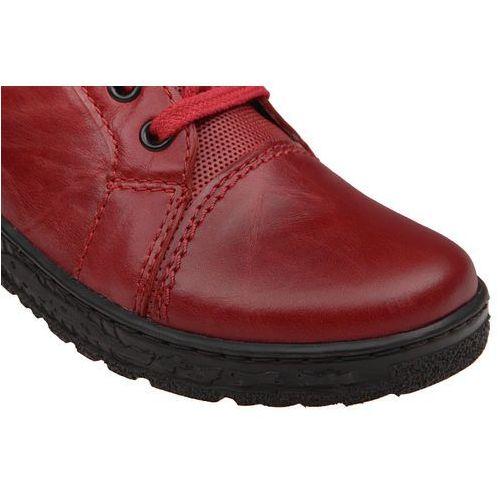 40bb8ba6b6924 Półbuty damskie KACPER 2-6319 Czerwone - Czerwony, kolor czerwony - zdjęcie Półbuty  damskie