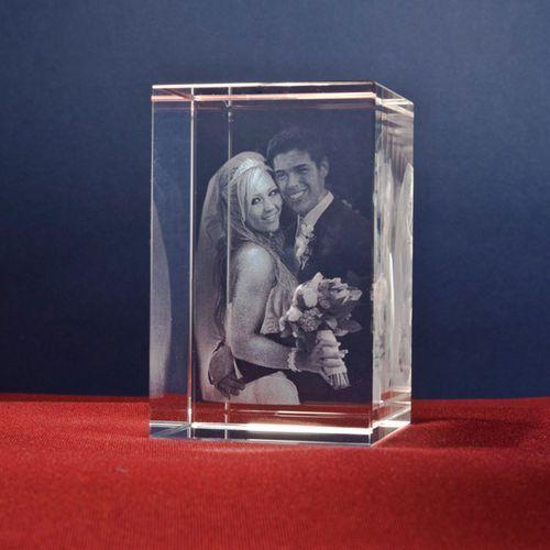 Portret 2.5D w kryształowej statuetce • GRAWER 3D