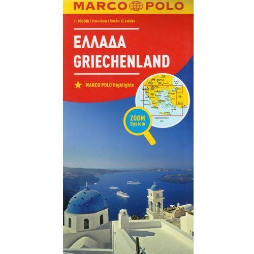 Marco Polo Mapa Samochodowa Grecja 1:800 000 Zoom, oprawa kartonowa