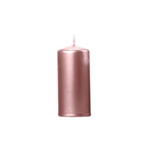 Świeca klubowa metaliczna różowe złoto, 1 szt. (5900779107519)