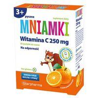 Pastylki STARPHARMA Mniamki Witamina C 250mg, 60 pastylek do ssania o smaku pomarańczowym