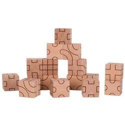 Goki Klocki sześcienne geometryczne naturalne -58754
