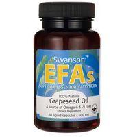 Swanson Grapeseed oil - Olej z nasion winogron 500mg 60 kaps.