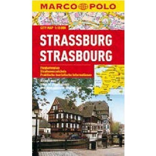Strasburg 1:15 000. Laminowany plan miasta. Marco Polo, oprawa miękka