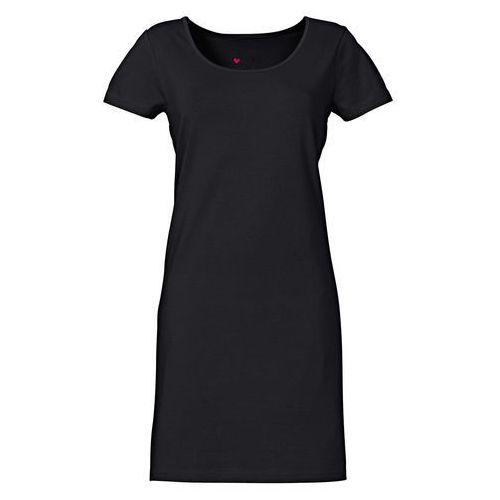 Sukienka ze stretchem, krótki rękaw bonprix czarny