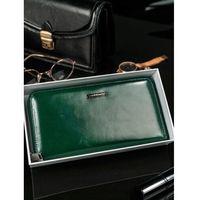 Skórzany portfel damski zielony lorenti 76119