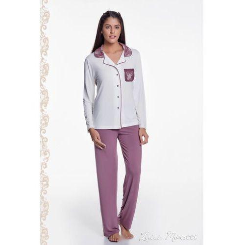 4ee42a2ba48fb0 ... Damska bambusowa piżama claudia s kremowy / srebrny marki Luisa moretti  - Foto produktu ...