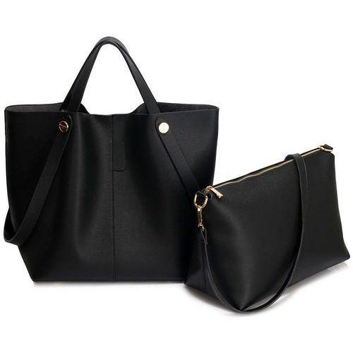 0009f17de4e24 Torebka damska shopper bag czarna - czarny