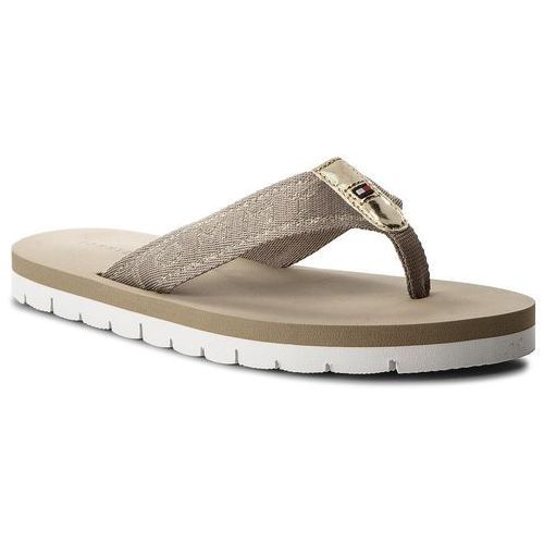 2b3bbe0519f1e Japonki TOMMY HILFIGER - Flexible Essential Beach Sandal FW0FW02365  Cobblestone 068