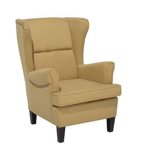 Fotel Tapicerowany żółty Abson Beliani