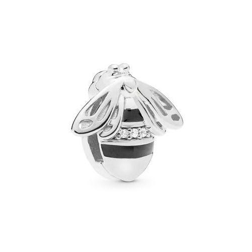 Rodowany srebrny charms pandora koralik reflexions pszczoła bee cyrkonia srebro 925 BEAD198RH
