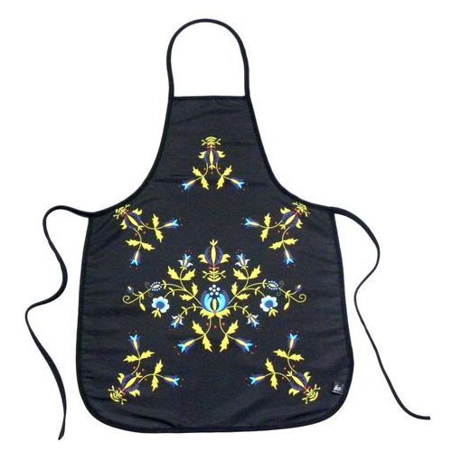 Pracownia artystyczna Fartuszek kuchenny z nadrukiem ludowym  kwiaty kaszubskie 4