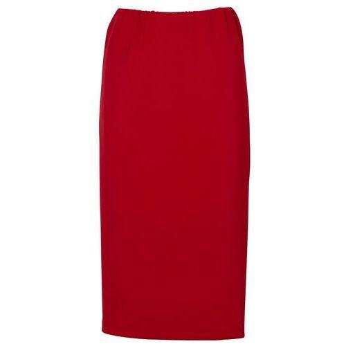 Bonprix Spódnica ołówkowa ciemnoczerwony